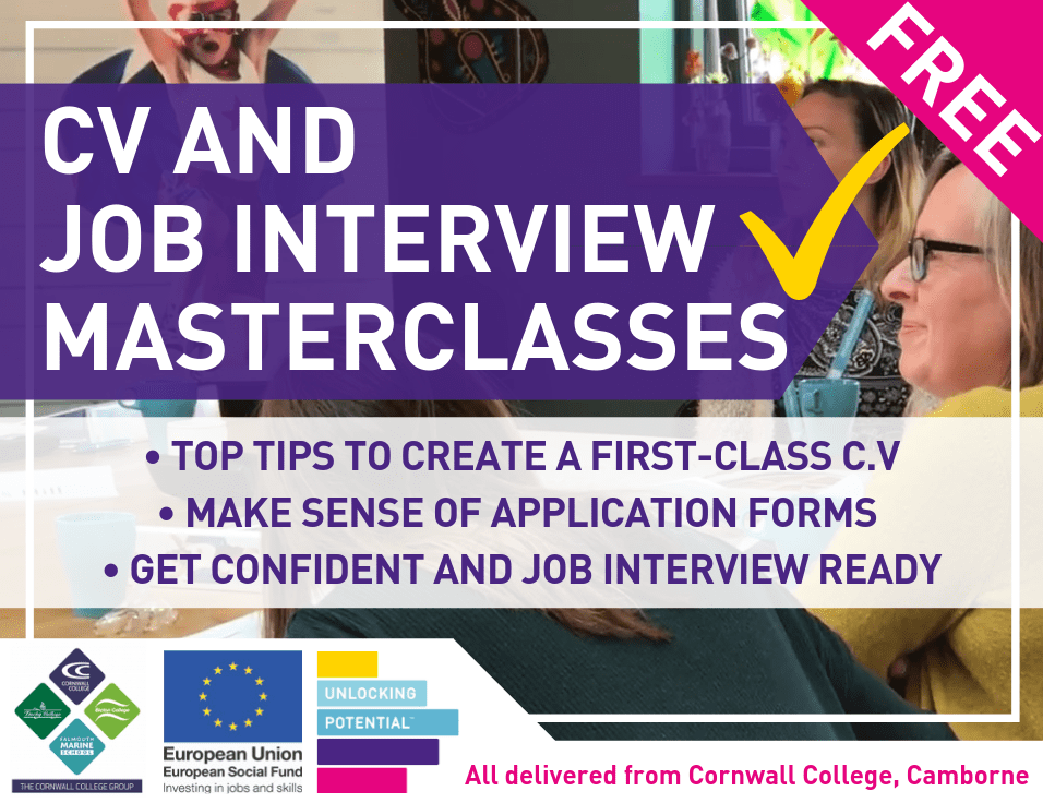 Free CV and Interview Masterclasses