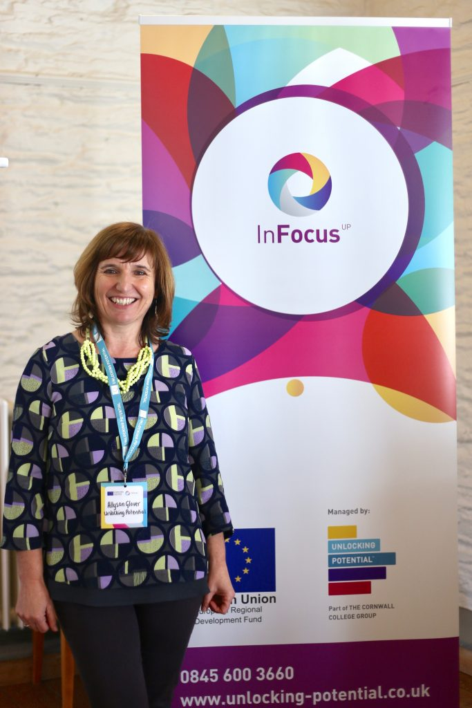"""Programme Director for Unlocking Potential, Allyson Glover, opened the event and revealed their new ERDF funded programme InFocus. Allyson said """"We really enjoyed introducing the variety of workshops, expert support and resources now on offer to businesses through InFocus. The Programme will really support those who are having difficulty in finding the right customers and need a helping hand not only to move their business forward, but to define and evolve"""""""