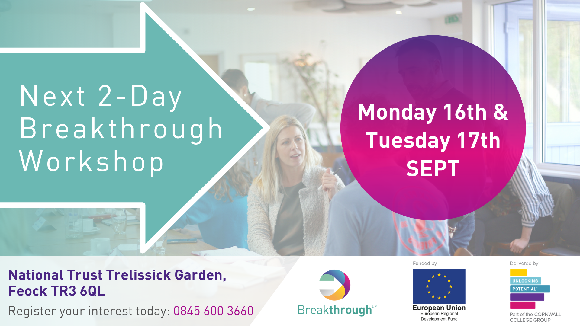 Breakthrough 2-day workshop for Cornwall Businesses