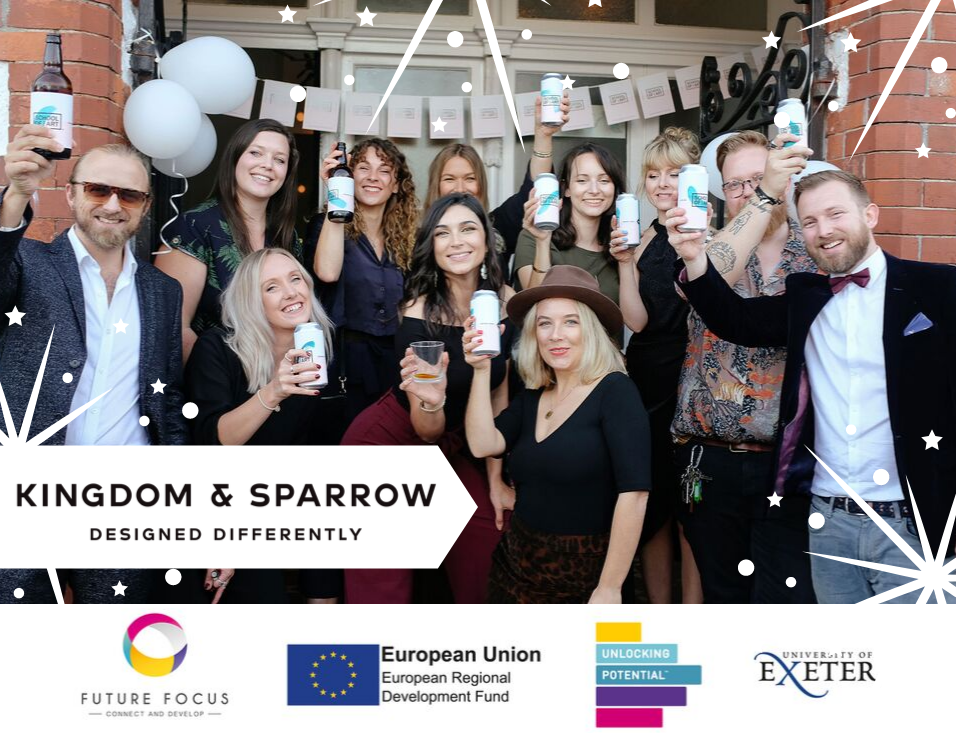 Unlocking Potential client, Kingdom & Sparrow, brings new creativity back to Falmouth's old School of Art.