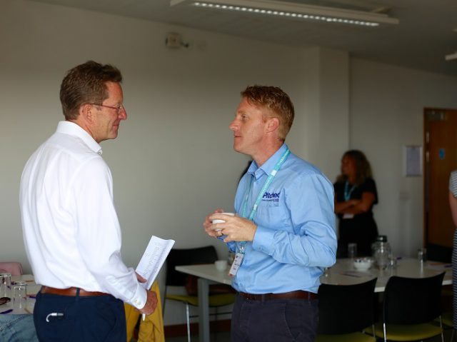 Trevor Lee supporting business owners at an Unlocking Potential InFocus event