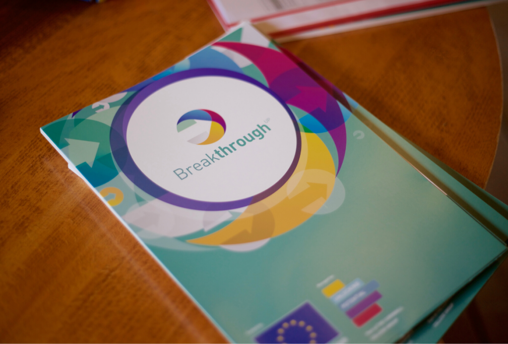 Breakthrough A4 folder, part of the tools used on the Breakthrough 2 day workshop delivered by Unlocking Potential