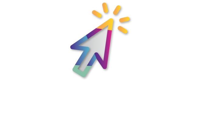 Multicolored arrow to click to complete our 'get involved' form