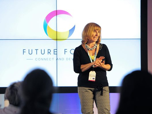Allyson Glover opening a Future Focus event for Unlocking Potential