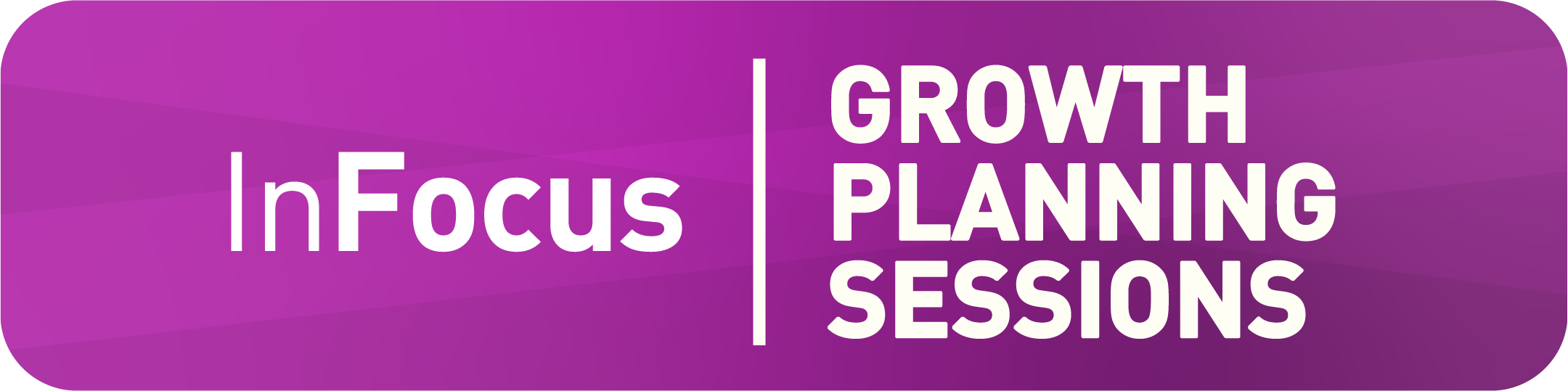 InFocus Growth Planning Sessions on purple background