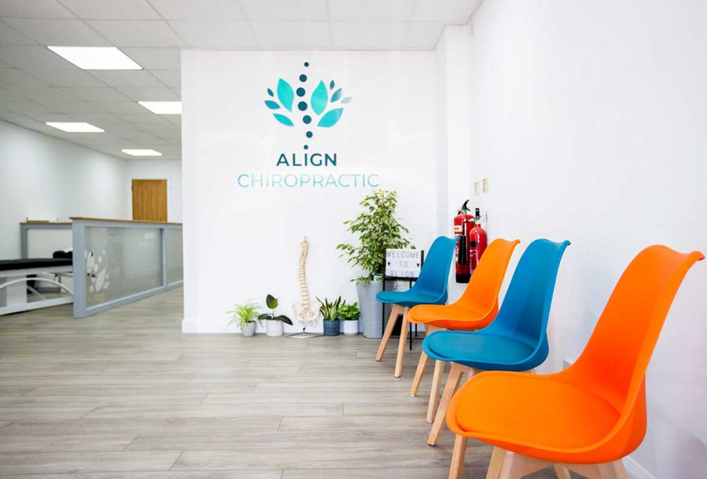 Seating area at Align Chiropractic