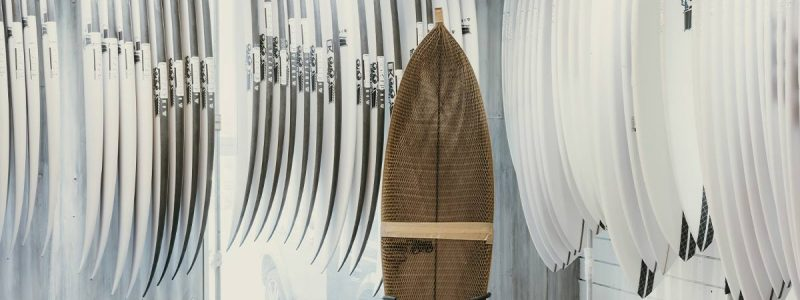 Surfboards and packaging by Flexi Hex