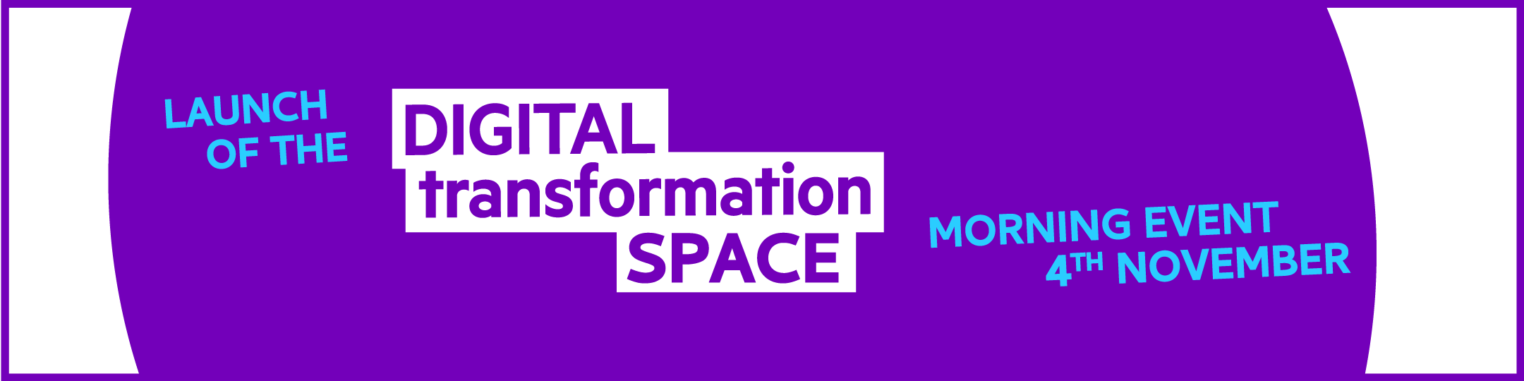 Digital Transformation space launch event banner